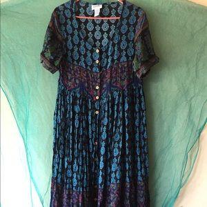 90s vintage button down dress